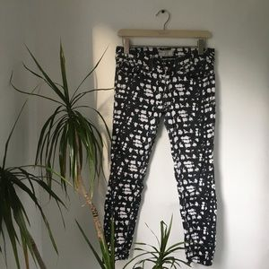 Free People Patterned Stretch Skinny Jeans